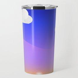 Coloured Landscape Travel Mug