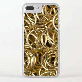 Gold Rings Clear iPhone Case