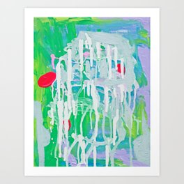 Pool Reflection Art Print