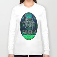 astrology Long Sleeve T-shirts featuring Cancer Zodiac Sign Astrology by CAP Artwork & Design