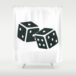 Dices Shower Curtain