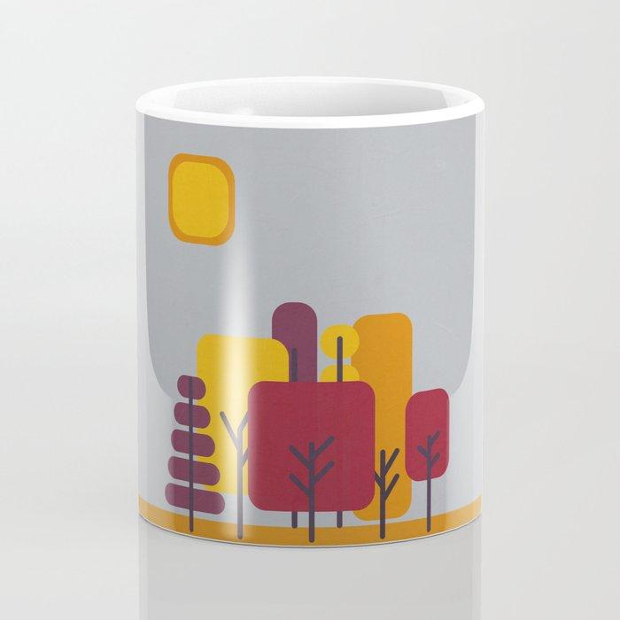 Sun over Autumn Forest Coffee Mug