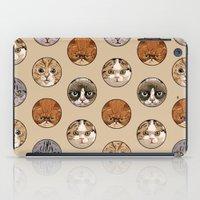 polka iPad Cases featuring Polka Meaw by Huebucket
