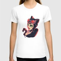 catwoman T-shirts featuring Catwoman by Piano Bandit
