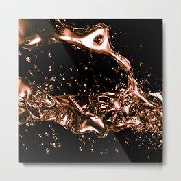 Melted Copper Design Metal Print