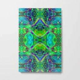 Techno Electric III (Ultraviolet) Metal Print