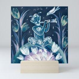 Blue little Pan Mini Art Print