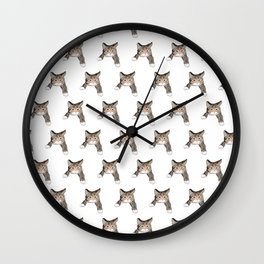 kittens pattern Wall Clock