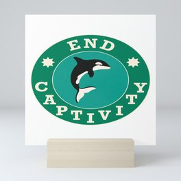 End Captivity Orca Animal Rights Mini Art Print