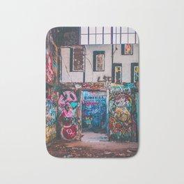 Abandoned Building Graffiti Bath Mat