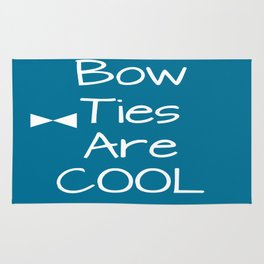 DOCTOR WHO Bow Ties Are Cool Teal Rug