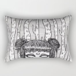 Under the Midnight Moon Rectangular Pillow