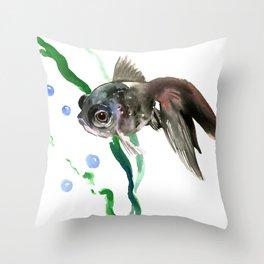 Fish, Aquarium Fish, cute fish design children room Throw Pillow