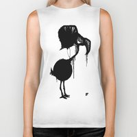 flamingo Biker Tanks featuring Flamingo by NOME