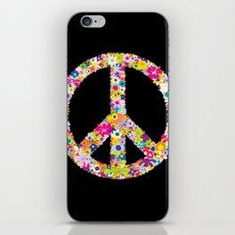 Peace Flowers iPhone Skin