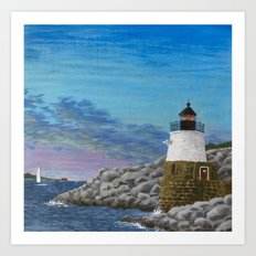 Newport Harbor Lighthouse Art Print