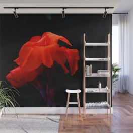 Orange Indian Reed Lily Flower Wall Mural