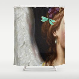 Angel With A Pearl Earring Shower Curtain