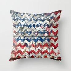 American Chevrons Flag. Throw Pillow