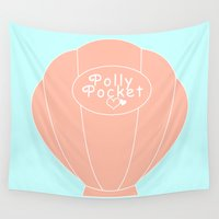 pocket Wall Tapestries featuring POLLY POCKET  by Happy as Flynn