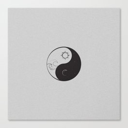 Yin Yang / Sun and Moon Canvas Print