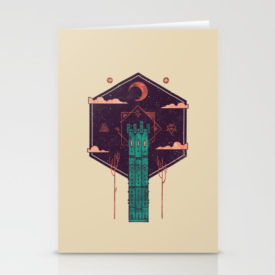 The Tower Azure Stationery Cards