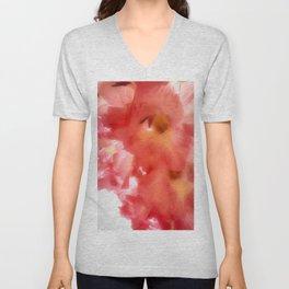 Soft Red Gladiola Unisex V-Neck