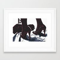 heels Framed Art Prints featuring heels. by Nasayousef