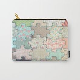 Rustic Jigsaw Carry-All Pouch