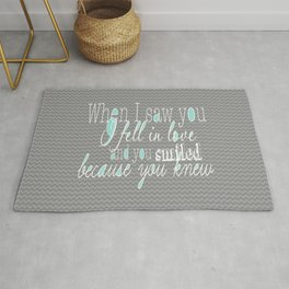 When I Saw You (Mint) Rug