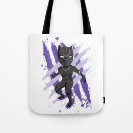 Black Panther (Splatter) Tote Bag