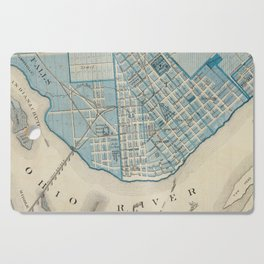 Vintage Map of Jefferson Indiana (1876) Cutting Board