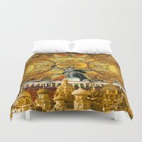 russia Duvet Covers featuring HISTORICAL RUSSIA by sametsevincer