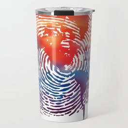 global map finger print Travel Mug