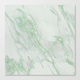 Marble Love Green Metallic Leinwanddruck