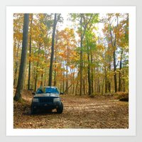 jeep Art Prints featuring Jeep by LargeMarge31