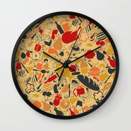 Food a background Wall Clock