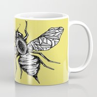 bee Mugs featuring Bee by Aubree Eisenwinter