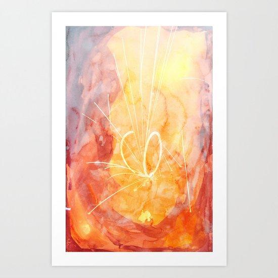 WATERCOLOURS Art Print