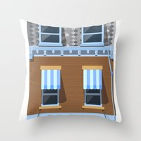 movies Throw Pillows featuring Day at the Movies by Chris Redford