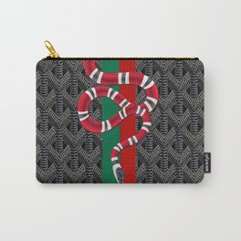 black guci snake Carry-All Pouch