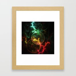 Carniverous Cape Sundew Tentacles in an Ecosphere Framed Art Print