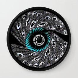 Crazy Eyeball - Digital from drawing Wall Clock