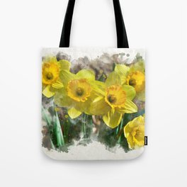 Watercolor Daffodils Tote Bag