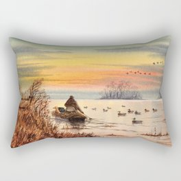 A Great Day For Hunting Ducks Rectangular Pillow