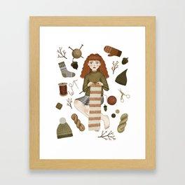 forest knitting Framed Art Print