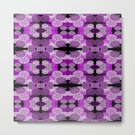 Snowflake II in Purples Metal Print