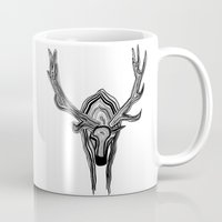 elk Mugs featuring Elk by Michael Arras