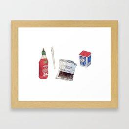 food stuffs Framed Art Print