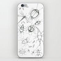 insects iPhone & iPod Skins featuring Insects by Amelia Dray Illustration